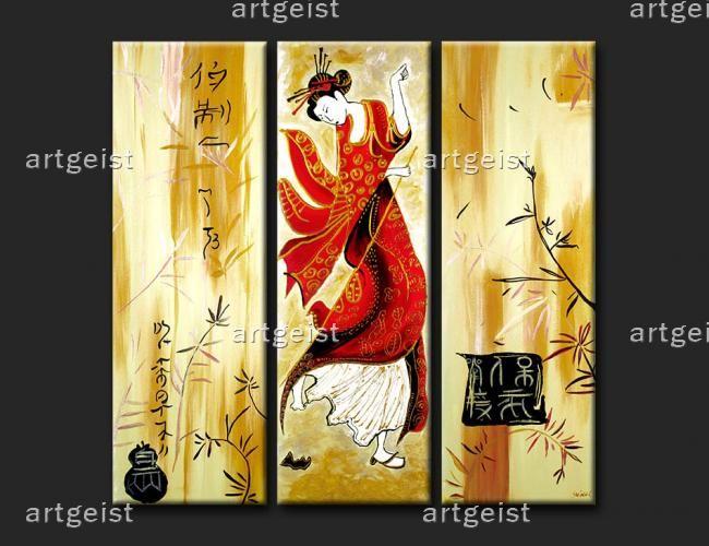 feng shui wandbilder geisha