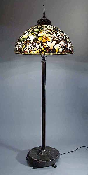 "The 28"" Magnolia Tiffany lamp"