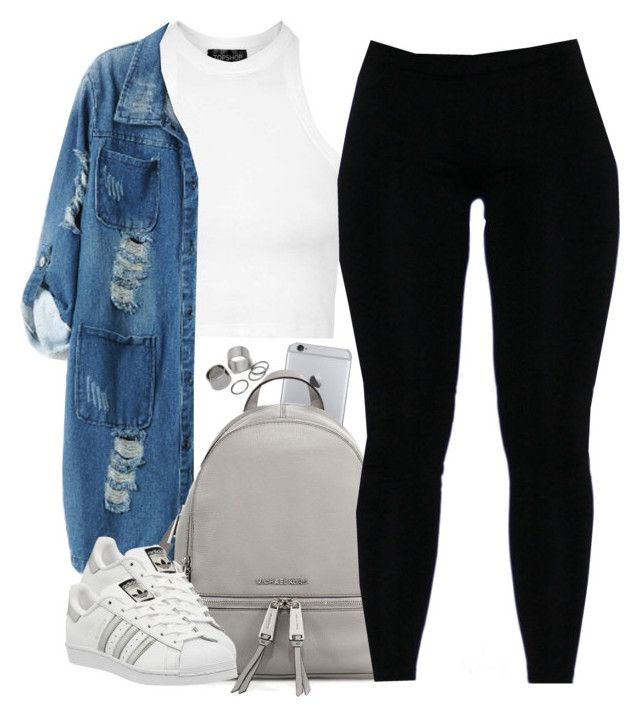 """""""V.XI.MMXVI"""" by justice-ellis ❤ liked on Polyvore featuring Topshop, Chicnova Fashion, MICHAEL Michael Kors, adidas and Pieces"""