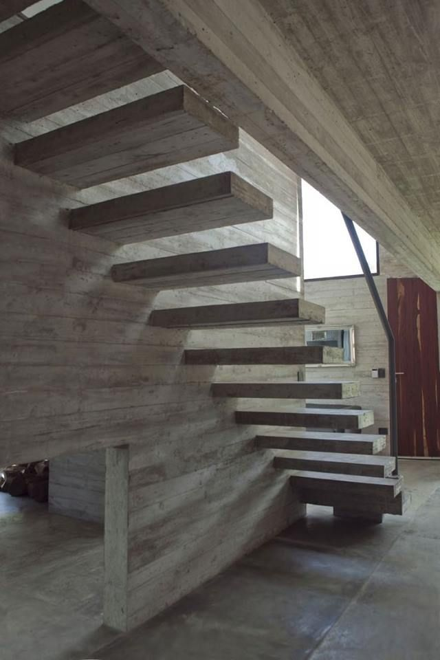 Except The Beds, Couches And Chairs, The Rest Of The Equipment Of This  House Is Solved In Concrete U2013 V+D SET / BAK Arquitectos