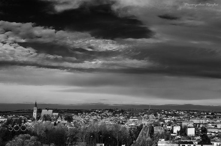 Panorama of Olkusz (Poland) - Panorama of Olkusz from Czarna Góra (Poland).