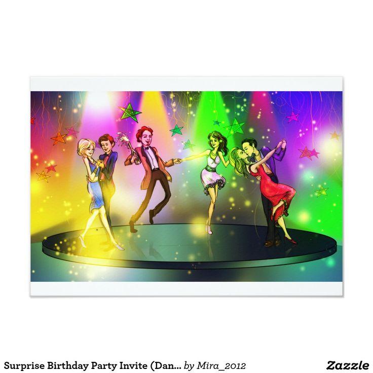 Surprise Birthday Party Invite (Dancing)