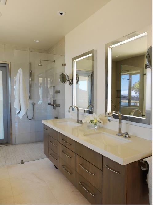 blue bath renovation-outdoor shower door