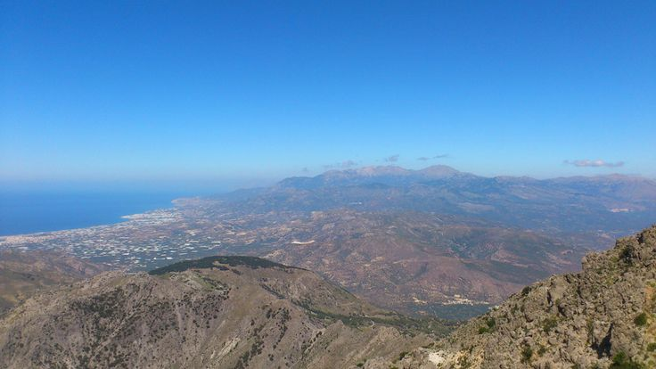 The view from Afendis Stavromenos to Ierapetra