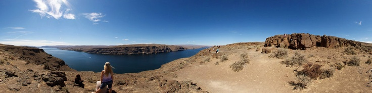 Scenic overlook off Interstate 90 near The Gorge Amphitheater in Quincy, Washington.