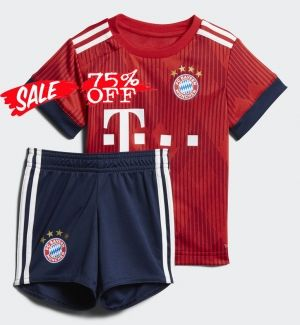 2018-19 Cheap Youth Kit Bayern Munich Home Replica Red Suit  CFC140 ... b0110980f
