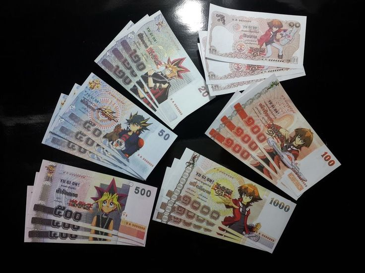 18 PCS YU-GI-OH BANKNOTE BILL PLAY FAKE PAPER MONEY COLLECTABLE COMMEMORATIVE in Toys & Hobbies, Preschool Toys & Pretend Play, Other Preschool & Pretend Play | eBay