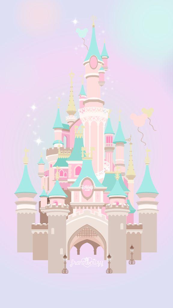 Fond d'écran Disney avec des allures de rose bonbon et de vert menthe !