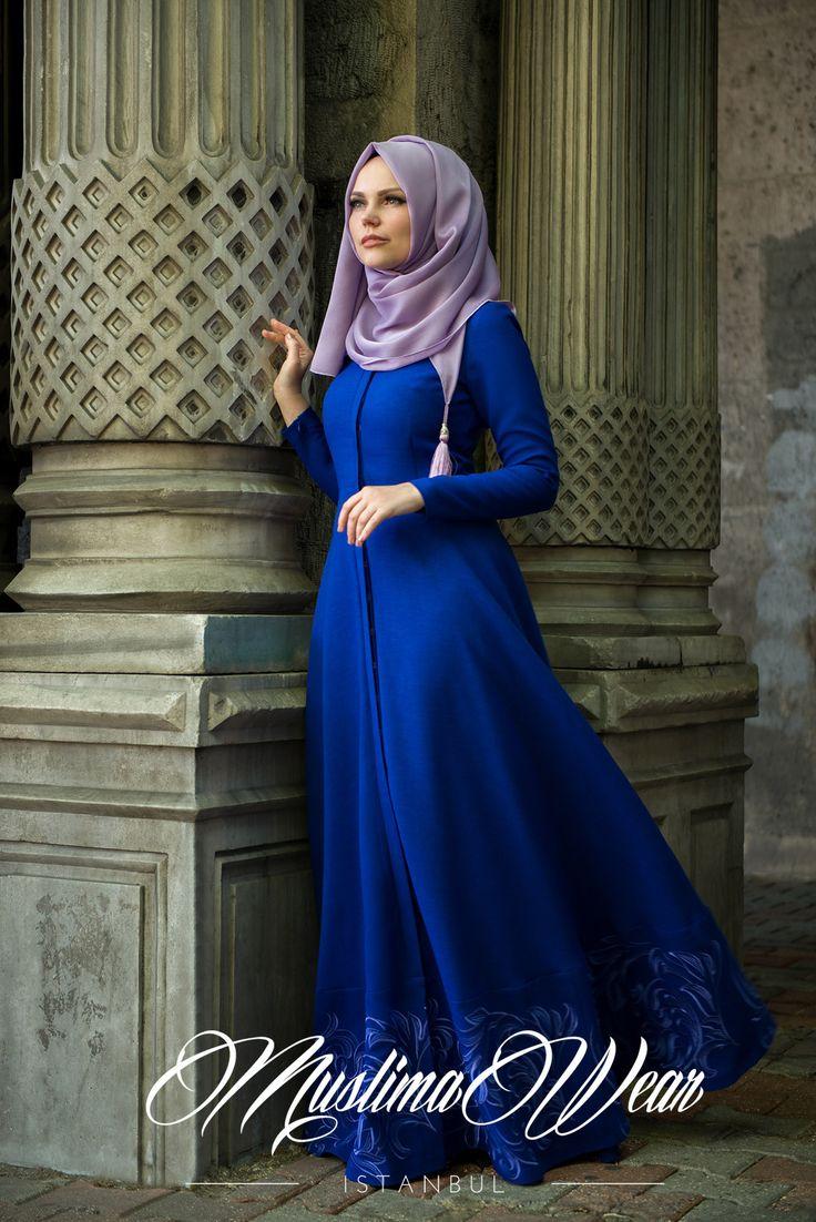 Muslima Wear 2015 Royal Blue Dress