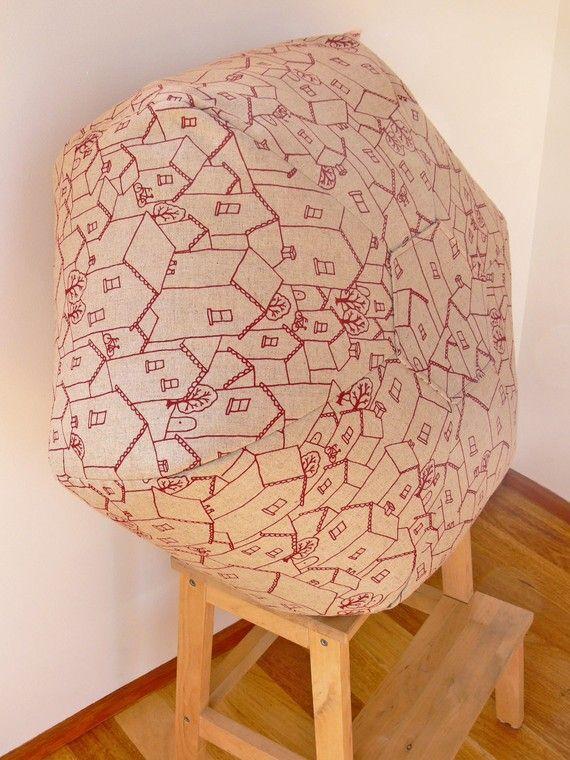 Mookah Floor Cushion  Red Rooftops Design by Mookah on Etsy, $135.00