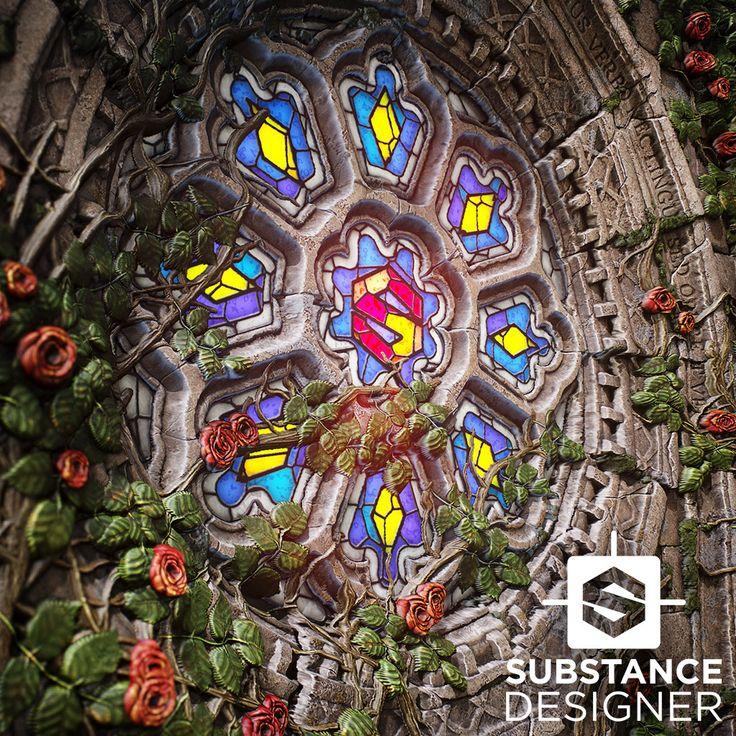 Rose Window Substance, Mark Foreman on ArtStation at https://www.artstation.com/artwork/w5vRZ