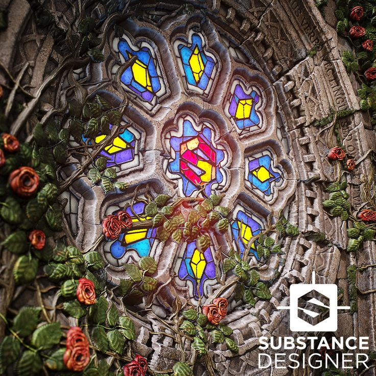 Rose Window Substance, Mark Foreman on ArtStation at https://www.artstation.com/artwork/w5vRZ