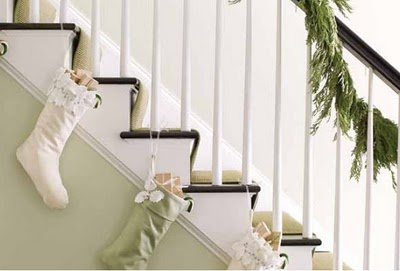 Christmas Stockings on Stairs -perfect!