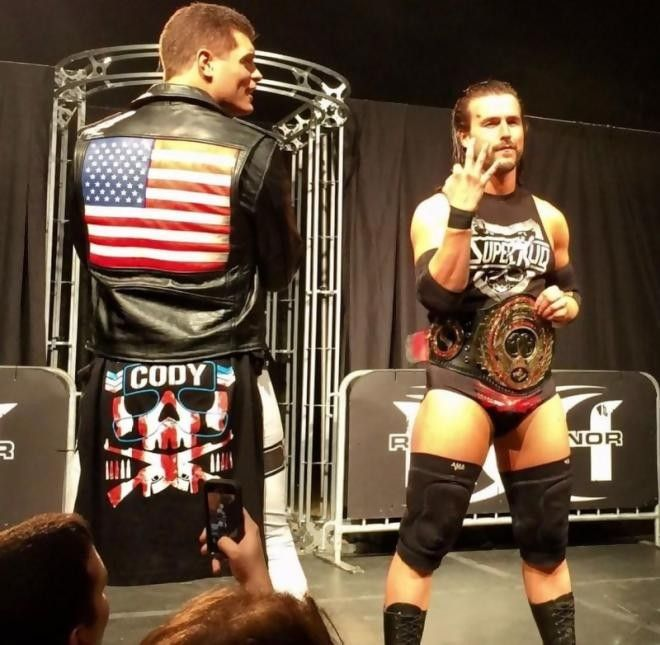 "Bullet Club Members ""The American Nightmare"" Cody & ROH World Heavyweight Champion Adam Cole"