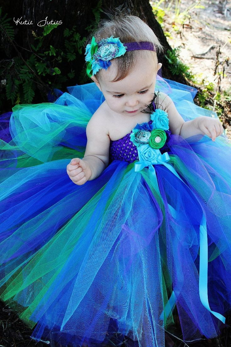 Pin By Jola Truong On First Birthday Dresses Peacock