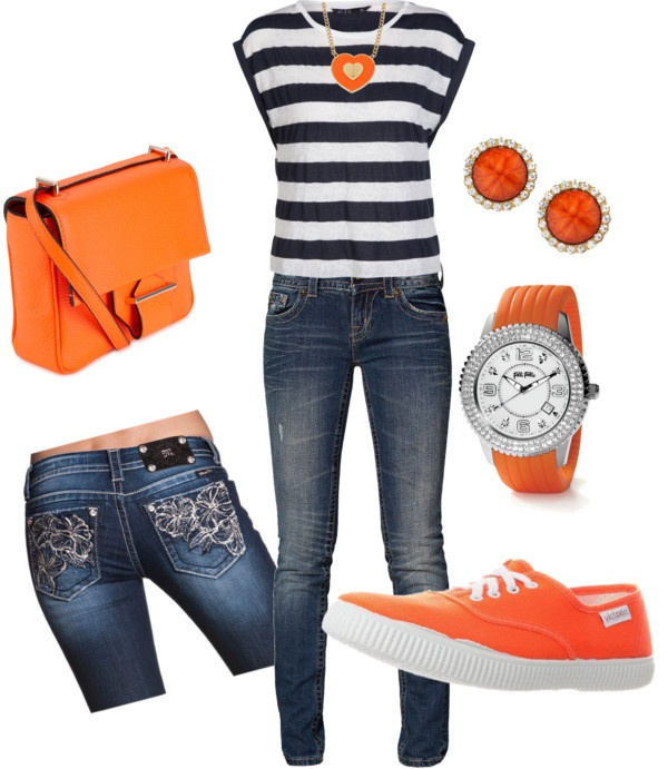 """""""orange you wonderful?"""" by kellybell4770 on Polyvore Great for an OKC Thunder game!"""