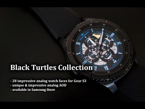 Black Turtles Collection - 28 impressive analog watch faces for Gear S3 - Andrasi.ro