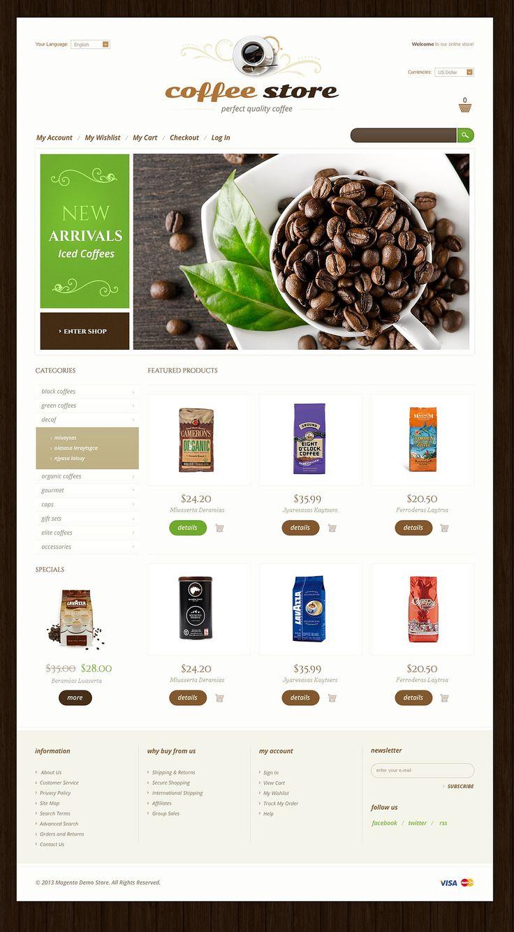 Mejores 43 imágenes de Cafe and Restaurant Website Templates en ...