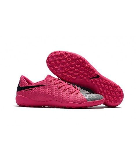 Nike Hypervenom Phelon III TF NA UMĚLÝ POVRCH Růžový Šedá Černá Muži Leather Kopačky