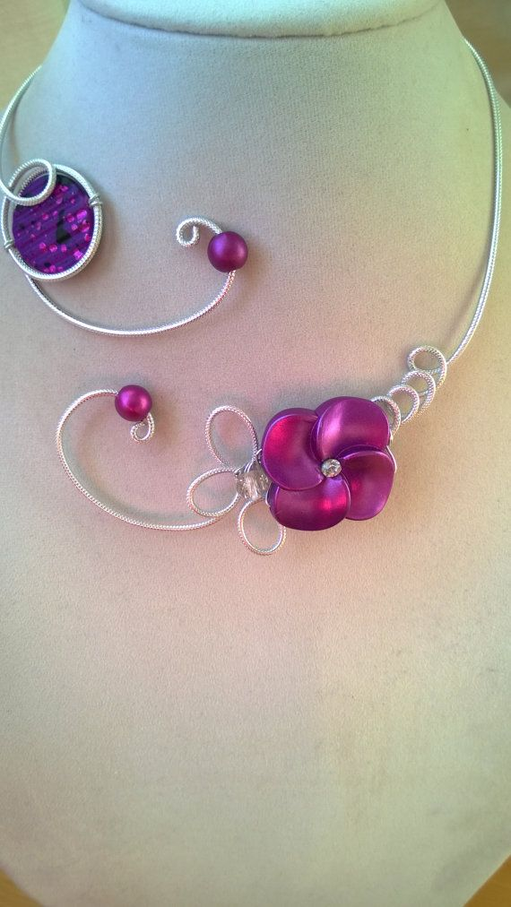 Purple Purple jewelry Purple necklace Open by LesBijouxLibellule