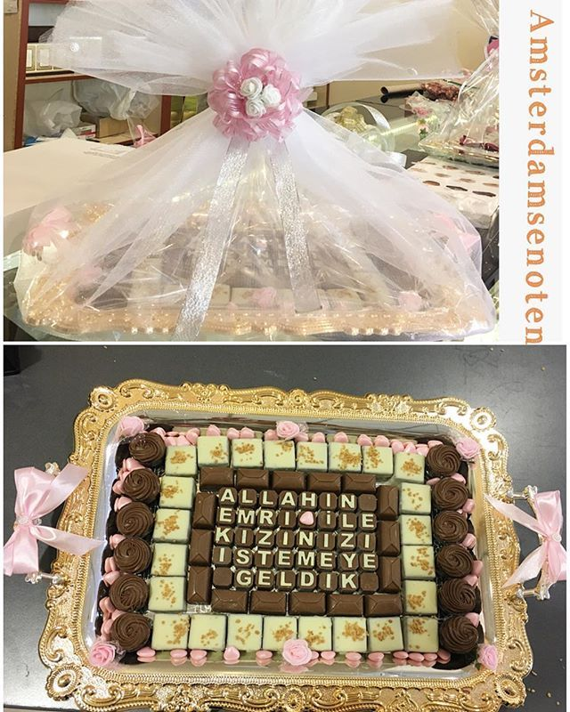 Gecen hafta hazirladigimiz kiz isteme tepsisi. Hayirli ugurlu olsun! Mutluluklar dilliyoruz☺️. #kiz#isteme#tepsisi#beyaz#harfler#hediyelik#gelin#bohça#gelinbohcasi#söz#nisan#nikah#babyshower#dogumgunu#farkli#pakketler#tepsiler#tasarimlar#hazirliyoruz#cadeautje#heerlijke#chocolade#bonbons#luxe#verpakkingen#amsterdamsenotenwinkel #evedeso #eventdesignsource - posted by Gunluk Taze Kuruyemis. https://www.instagram.com/amsterdamsenoten. See more Baby Shower Designs at http://Evedeso.com
