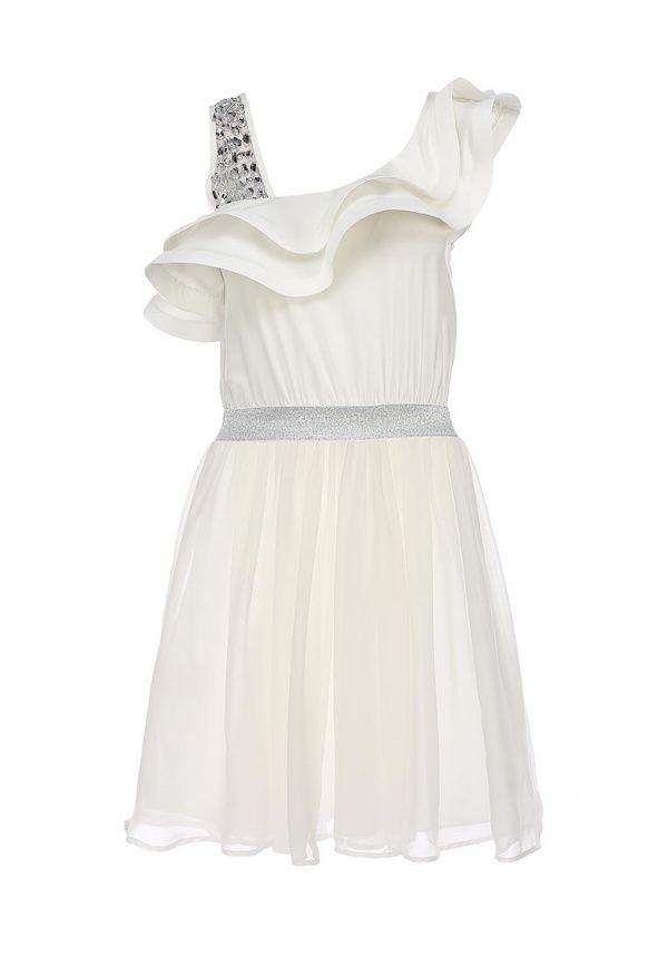 Платье La Coquette женское. Цвет: белый. Сезон: Весна-лето 2014. С бесплатной доставкой и примеркой на Lamoda. http://j.mp/1qKaX98