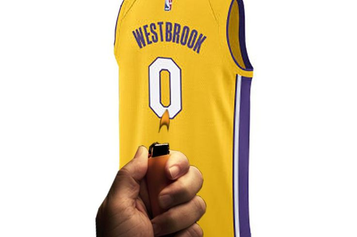 Everyone's laughing at the Lakers after Russell Westbrook re-signed in OKC