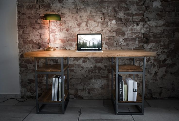 Schreibtische - Schreibtisch Elon - Massivholz Eiche  - ein Designerstück von Alexander-von-Poblotzki bei DaWanda