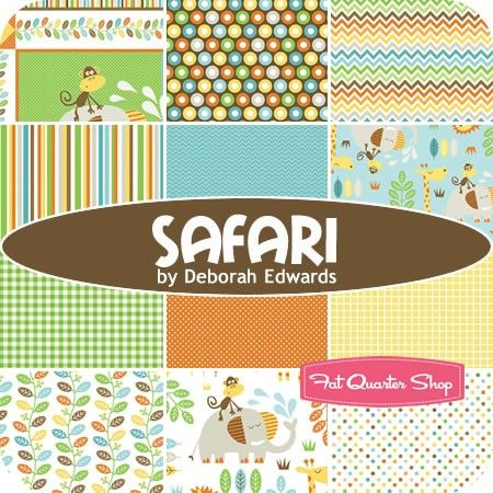 Safari Fat Quarter Bundle Deborah Edwards For Northcott