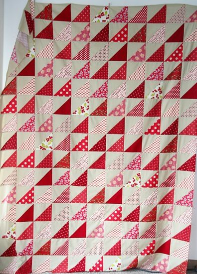 Easy triangle quilt