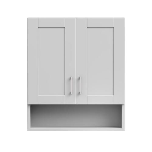 Magick Woods Elements Brighton 24 Matte White Toilet Topper Bathroom Wall Cabinets Bathroom Storage Cabinet Storage Cabinets