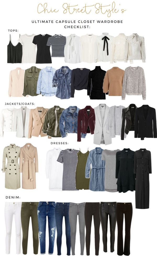 The Ultimate Capsule Closet Checklist (Chic Street Style)