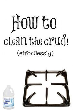 How to clean stove grates effortlessly | Debbiedoo's