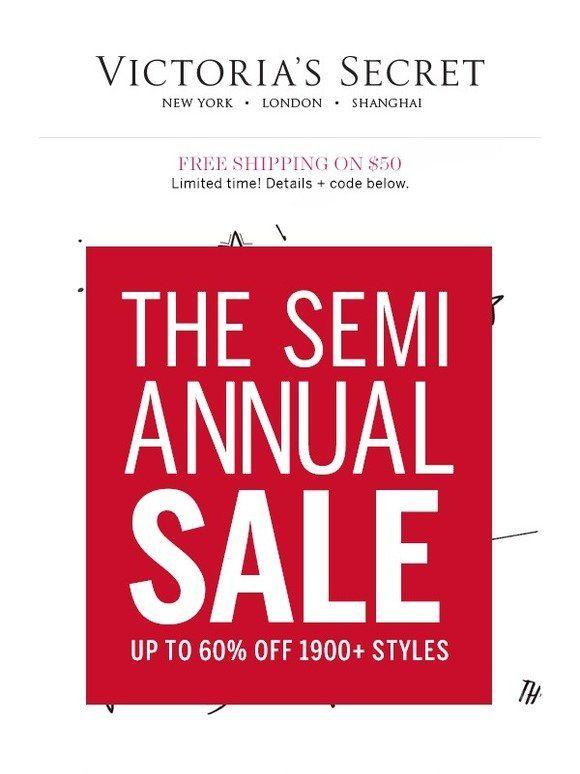 Shop to it! Semi-Annual Sale won't last forever - Victoria's Secret