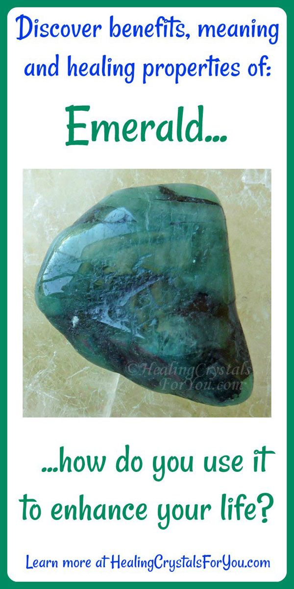 Crystal Properties and Meanings Emerald: #EmeraldStone emits the purest green ray energy. Brings #loyalty and #unconditionallove in #relationships