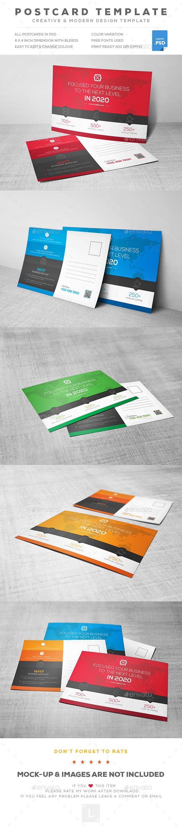 best ideas about postcard template post card corporate postcard template psd