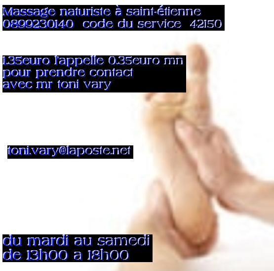 massage naturiste correze Saint-Étienne