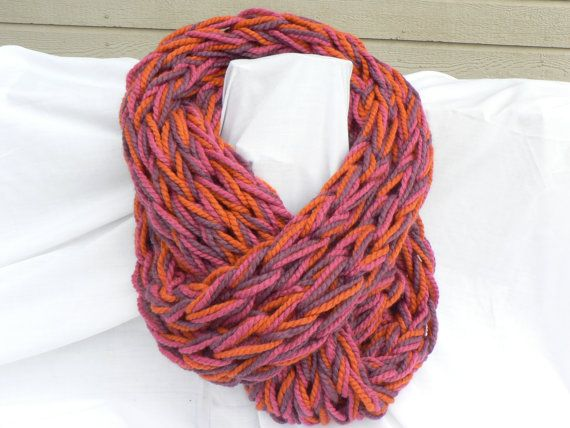 Ultra-warm arm knit infinity scarf by WarmButterfly on Etsy