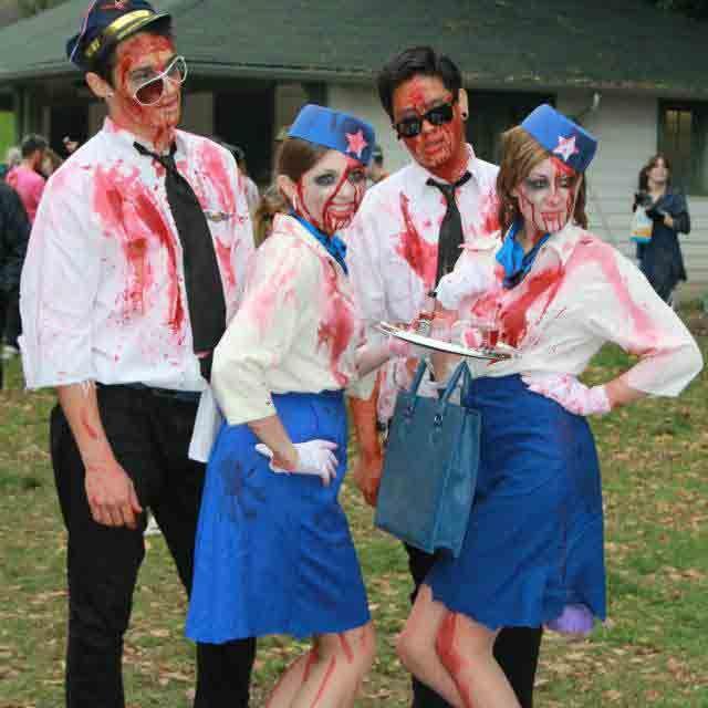 zombie flight crew - halloween group costume