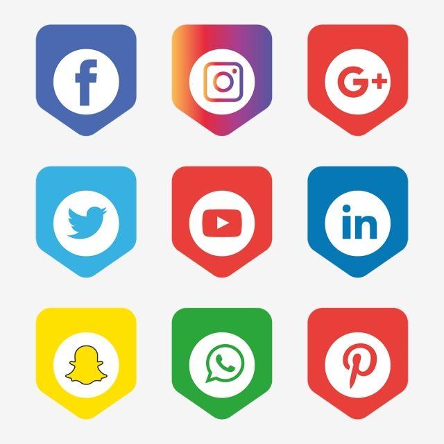 Social Media Icons Set Logo Vector Illustrator, Social, Media, Icon