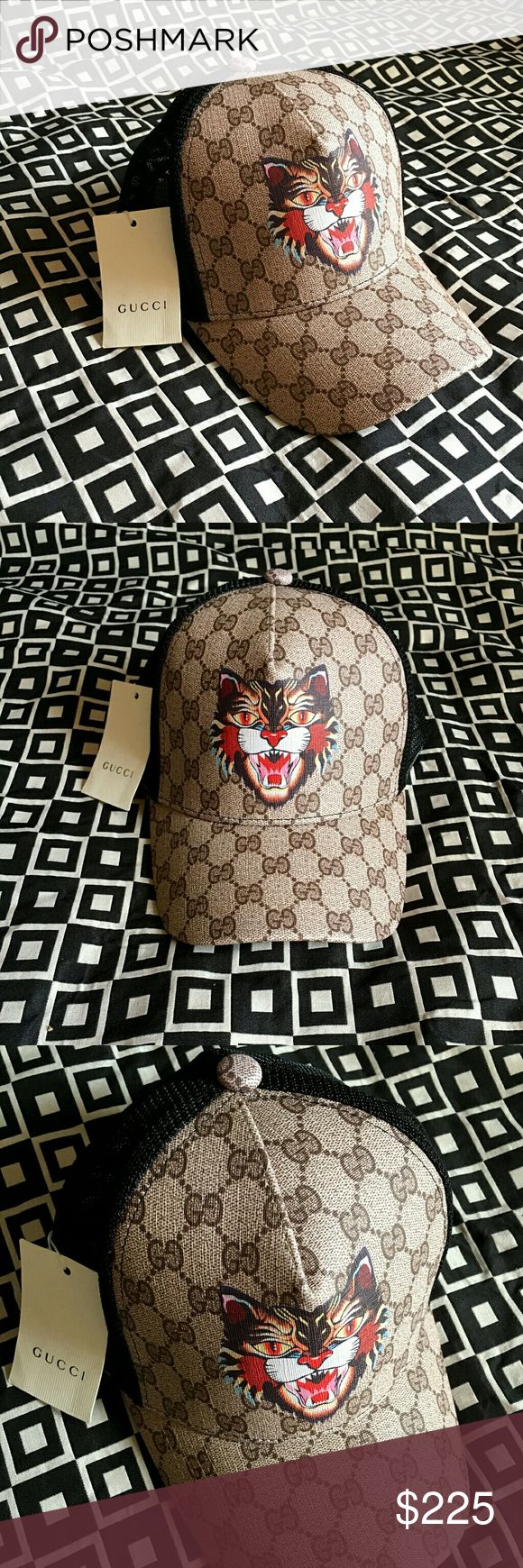 Gucci GG Angry Cat Print Baseball Hat!!! Gucci GG Angry Cat Print Baseball Hat!!!  Brand New!!!  Unisex...For Man Or Woman!!!  Adjustable Strap!!!  Comes With Gucci Gift Box!!!  Great Gift Idea!!!  Last Available!!!  Check My Listings For Other Great Items!!!             Ignore: Gucci gg monogram casual dress belts men's women's guccissma leather monogram web tiger bee embossed panther wool cable knit blooms supreme print angry cat ufo dragon studded snake double g tigers fitted SnapBack cap…