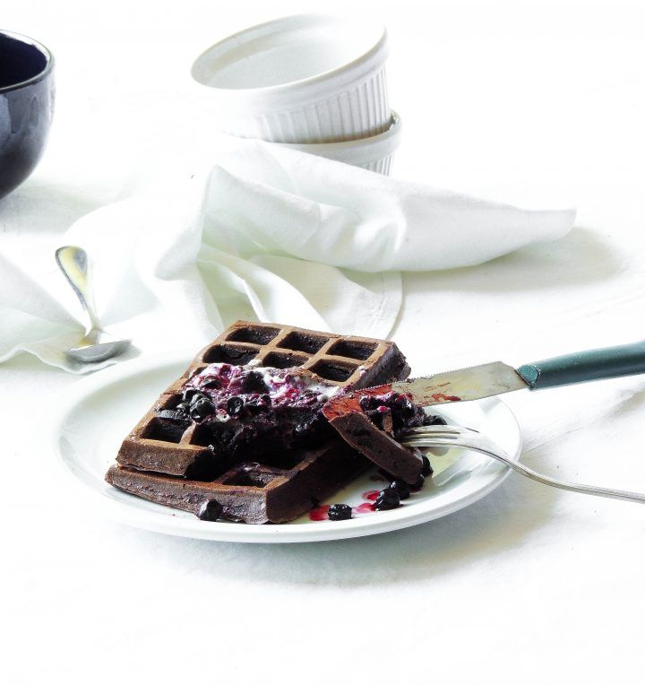 waffle proteici al cacao - low carb