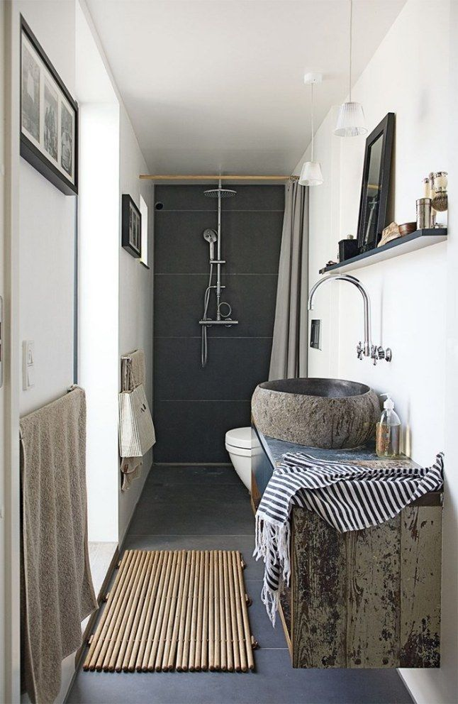 Aménagement pour petite salle de bain ! http://www.m-habitat.fr/par-pieces/sanitaires/comment-optimiser-l-espace-dans-une-petite-salle-de-bain-2691_A