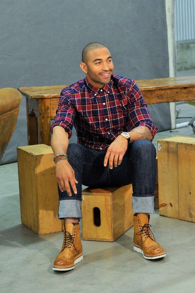 Matt Kemp behind the scenes of the ad shoot for Gap's outlet stores. [Photo by Donato Sardella]