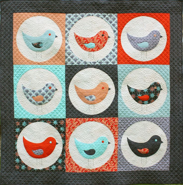 A new version of Nine Birds made out of my fabric range Terra Australis, Outback Colourway.