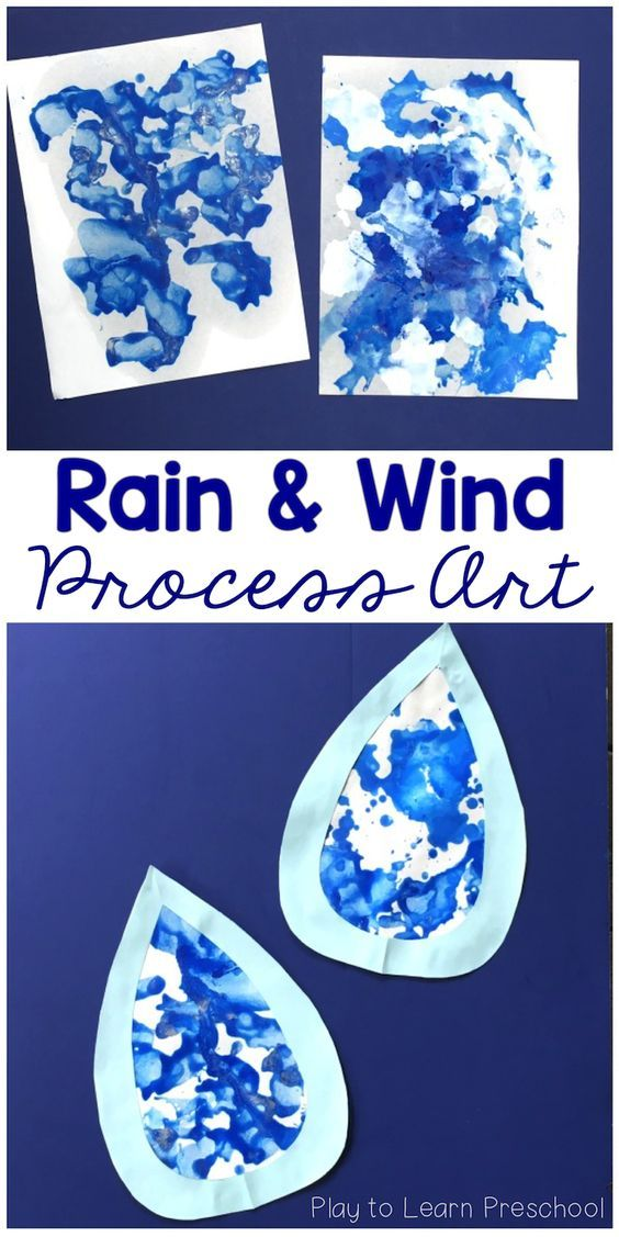 Play to Learn Preschool - Use paint and straws to make adorable spring or fall process art raindrops. Children will enjoy the process, and their parents will enjoy the finished product!