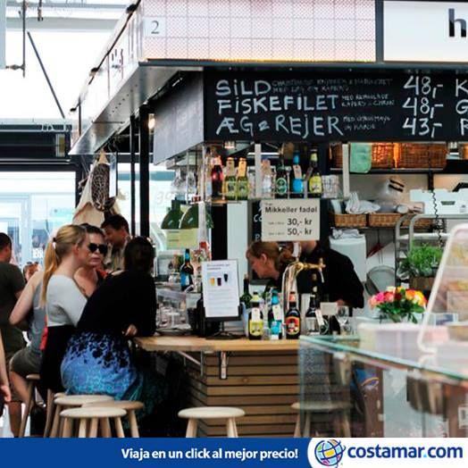 El mercado Torvehallerne, en Copenhague, Dinamarca, se ha convertido en poco tiempo en uno de los locales de moda de la ciudad. Foto: Heather Sperling / Flickr