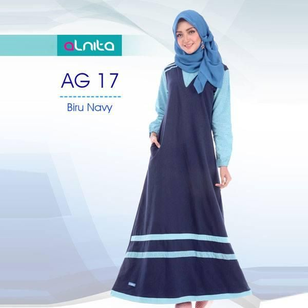 Jual beli Baju Gamis Dewasa ALNITA AG - 17 BIRU NAVY di Lapak Aprilia Wati - agenbajumuslim. Menjual Dress - Dress Gamis ALNITA AG-17 BIRU NAVY  KODE: AG-17  ALNITA GAMIS Warna : Biru Navy & Abu Tua Ready Size : S.M,L,XL  Bahan: Kaos CVC Size: S,M,L,XL Harga: Rp. 175.000  ALNITA adalah salah satu merk produk busana muslim kaos dengan harga yang sangat terjangkau. Bahan yang digunakan adalah kaos CVC sehingga sangat nyaman digunakan untuk kegiatan sehari-hari. Baju alnita didesain khu...