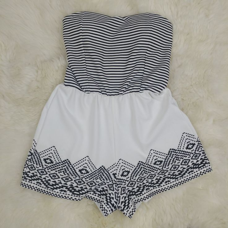 Striped Boho Romper Size Junior's Med.