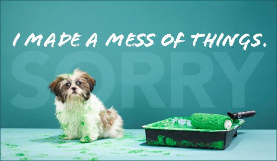 Made A Mess Oops and Sorry eCards - Free Christian Ecards Online Greeting Cards